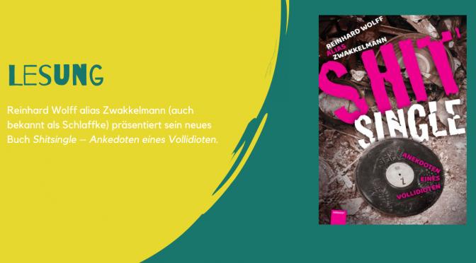 """Reinhard """"Zwakkelmann"""" Wolff liest und singt im Pitcher, Düsseldorf"""